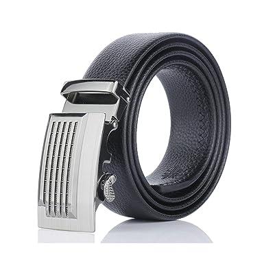 ROMQUEEN Cinturón de Cuero para Hombre Cinturón de Piel Hombre ...