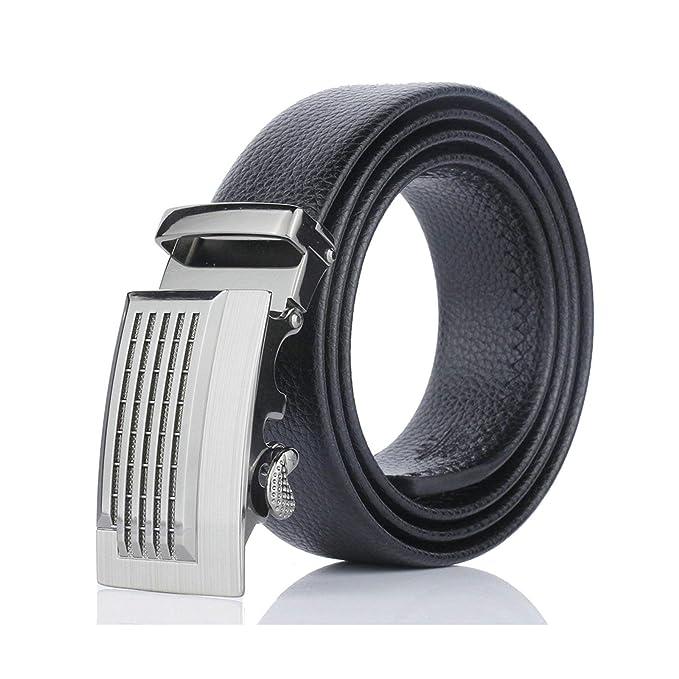 ROMQUEEN Cinturón de Cuero para Hombre Cinturón de Piel ...
