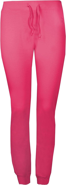 Brody & Co.. para Mujer de Deporte Sudor Pantalones de algodón Cuff algodón Gimnasio Yoga Danza Viaje