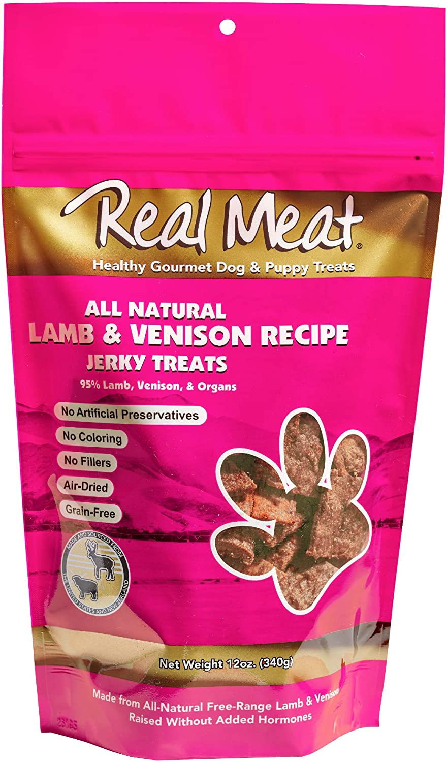 Real Meat Treats Dog Lamb and Venison,12 Ounce