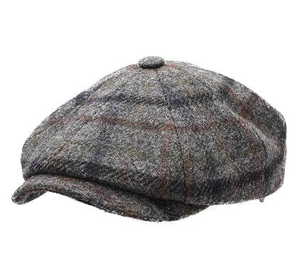 29204f64 Stetson Men's Hatteras Wool Flat Cap Size S Multi-gray-232 at Amazon Men's  Clothing store:
