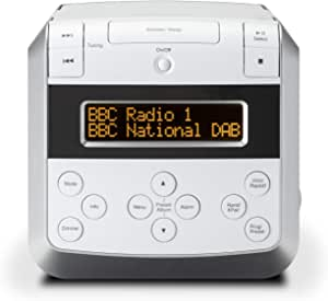 Roberts Sound 48 DAB/DAB+/FM Stereo Clock Radio with CD, Bluetooth, USB Playback/Charging - White