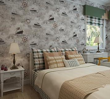 Longless Tapeten Grunen Schlafzimmer Non Woven Tapeten Mediterran Zimmer