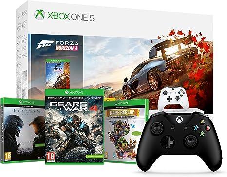 Microsoft Xbox One S - Consola 1 TB + Forza Horizon 4 + Microsoft - Mando Inalámbrico, Color Negro (Xbox One), Bluetooth: Amazon.es: Videojuegos