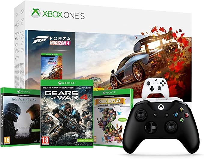 Microsoft Xbox One S - Consola 1 TB + Forza Horizon 4 + Microsoft ...