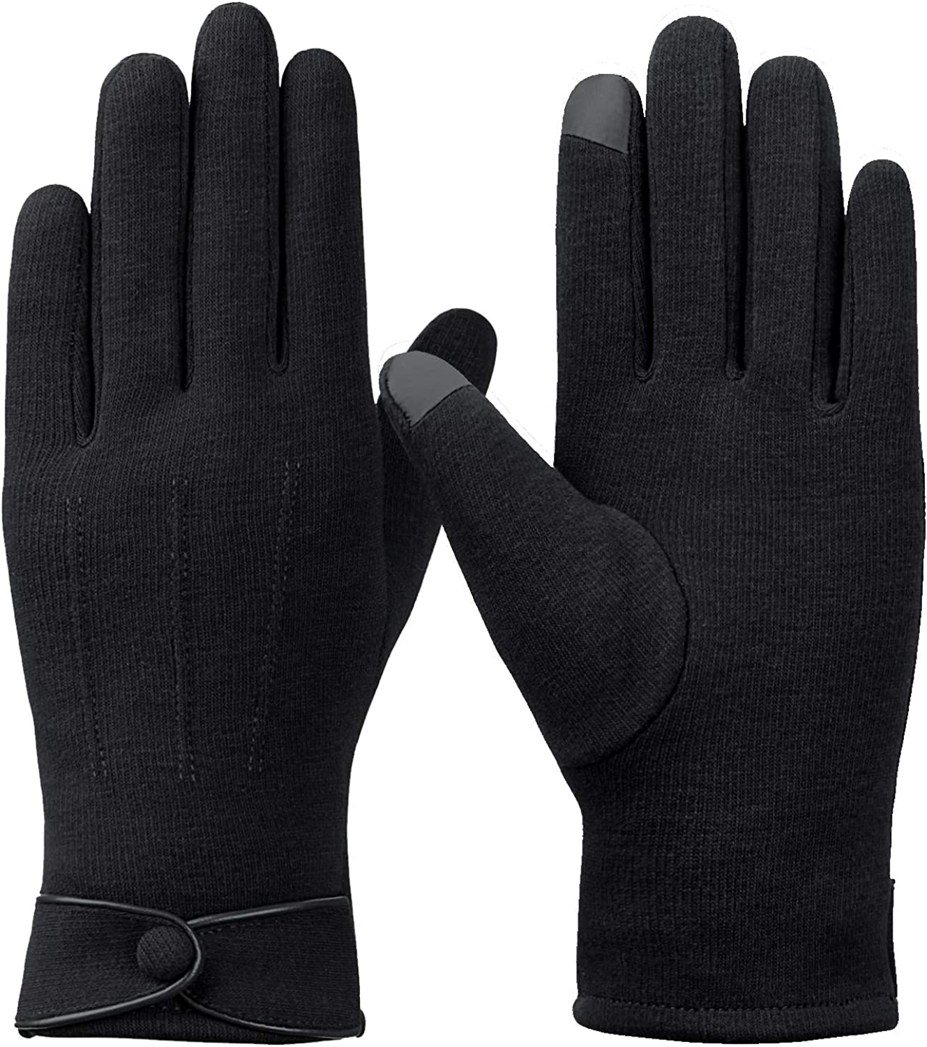 Womens Winter Gloves Touchscreen Warm Gloves Windproof Gloves for Women Girls with Lining Glove, Black at  Women's Clothing store