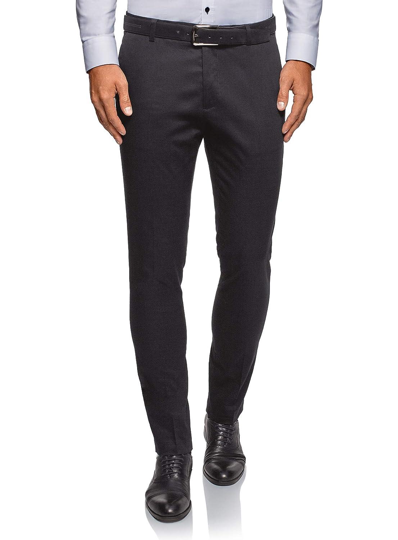 oodji Ultra Uomo Pantaloni Slim Fit in Tessuto Testurizzato RIFICZECH s.r.o. 2L210221M