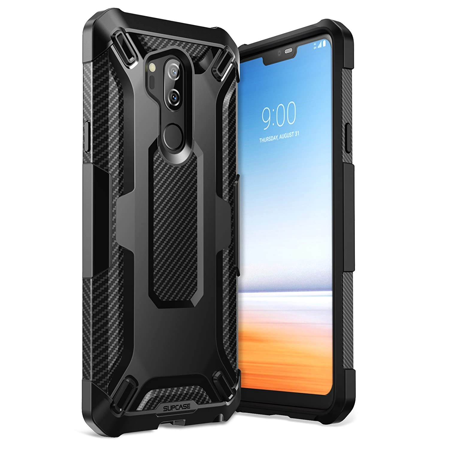 SUPCASE Unicorn Beetle Series Premium Hybrid Protective Case for Samsung Galaxy LG G7 / LG G7 ThinQ 2018 Release, Retail Package (Black)