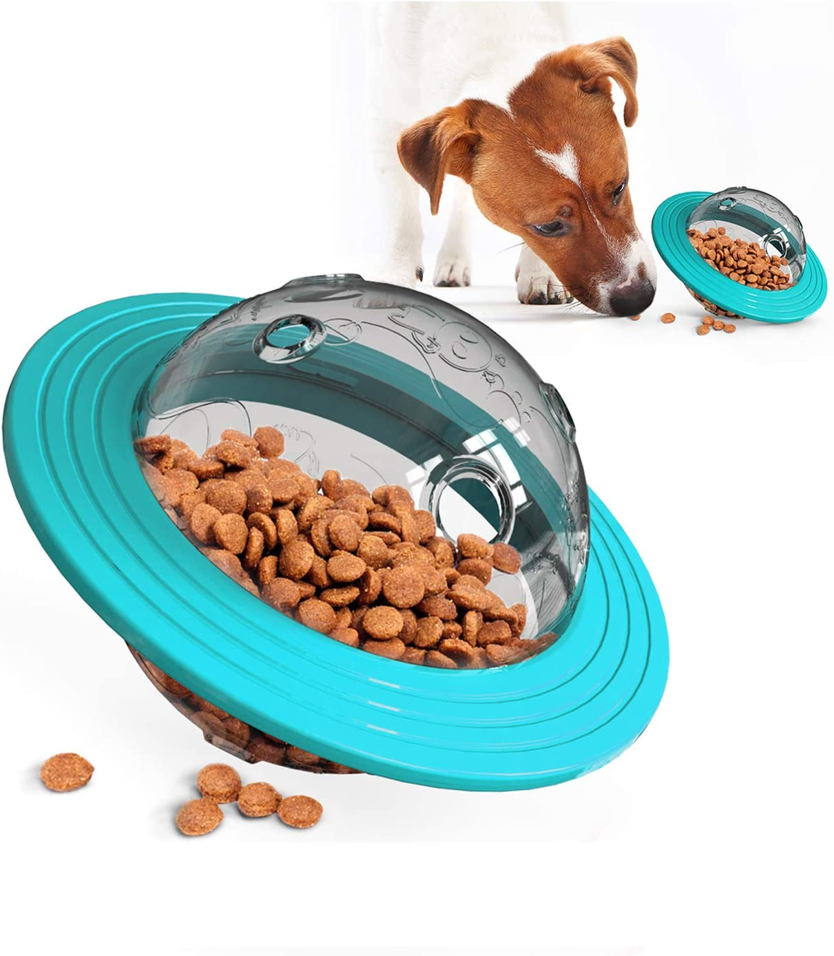 N&F Multifunctional Rolling pet Food Feeder, Flying Saucer Educational Toys, wear-Resistant Dog Supplies