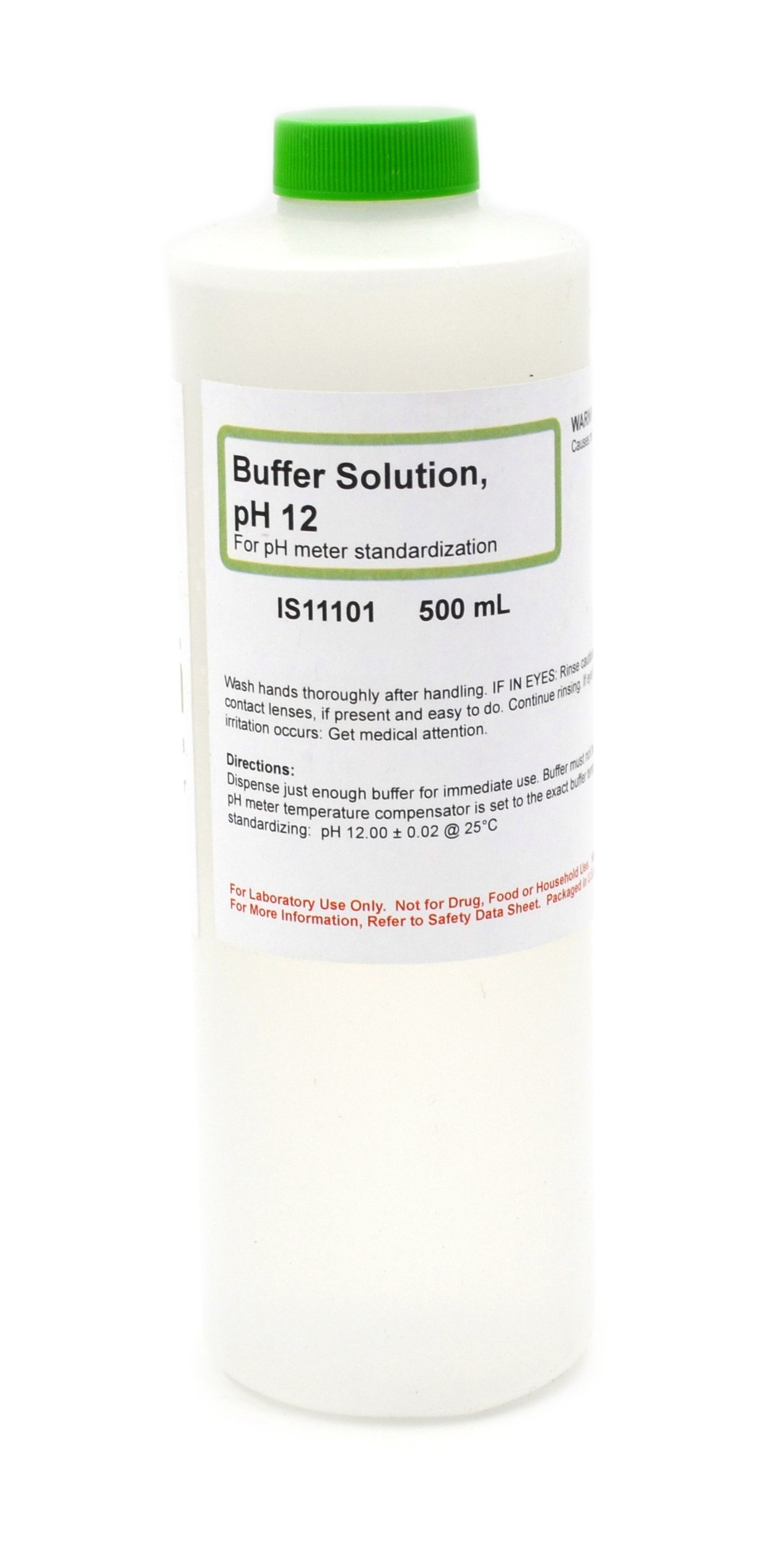 Standard Buffer Solution, pH 12, 500mL - The Curated Chemical Collection