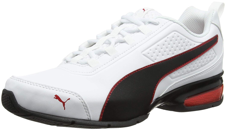 Puma Leader Vt SL, Zapatillas de Entrenamiento Unisex Adulto 45.5 EU|Blanco (Puma White-puma Black-flame Scarlet 1)