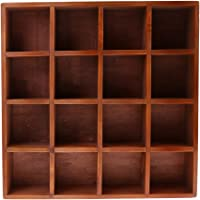 Blesiya Wooden Home Garden DIY Cupboard Cabinet Wall Mount Shelf Case Box Shadow Case Bonsai Vase Books CDS Display