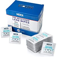 MEDca Lens Cleaning Wipes [210 Pack] Pre Moistened Cleansing Cloths Individually Wrapped Eyeglass Cleaner Wipe Pads for…