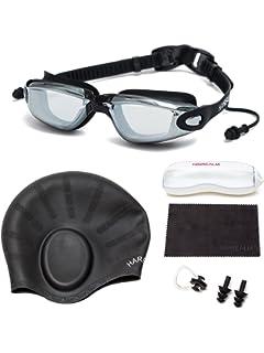 5655e2a7b84 Amazon.com   HAIREALM Myopia Swimming Goggles(Prescription 0-8.0 ...