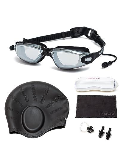 74e671d70ed Amazon.com   HAIREALM Myopia Swimming Goggles(Prescription 1.5-8.0 ...