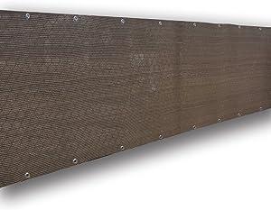 Alion Home Elegant Privacy Screen Fence Mesh Windscreen for Backyard Deck Patio Balcony Pool Porch Railing - Brown/Mocha (4' x 12')