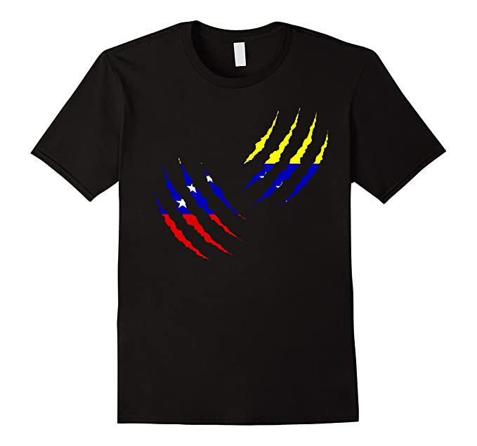Mens Venezuela Claw Scratch shirt Venezuelan tshirt Camiseta 2XL Black