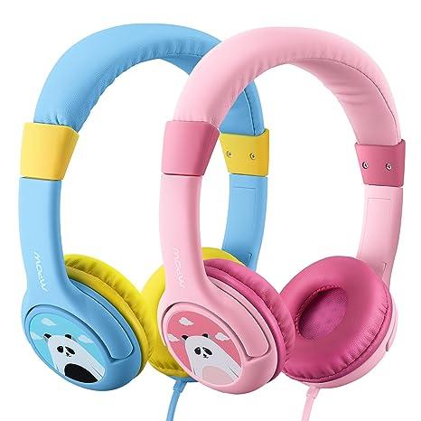 Mpow Auriculares Niños Diadema Cable(2 Paquetes), Auriculares Cascos Niños de Edades 3