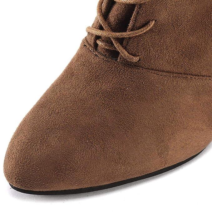 Viernes Negro JiaMeng Tirantes Botas Altas con Cremallera Botas sobre la Rodilla Tacones Altos Zapatos Navidad De Nieve Botas De Piel Cargadores De La ...