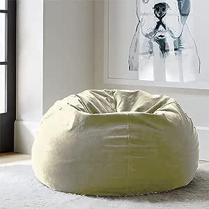 Regal In House relaxing bean bag velvet Large - Dark Beige