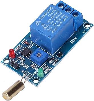 XZANTE Modulo De Rele De Sensor De Inclinacion Sw-520 Modulo De Activacion De Alarma De Proteccion De Volcado De Inclinacion De 12 V: Amazon.es: Electrónica