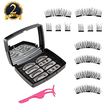 4be07cc2e37 SUBANG Magnetic Eyelashes Set 12 Count 3 Magnets Magnetic Lash [No Glue]  Premium Quality