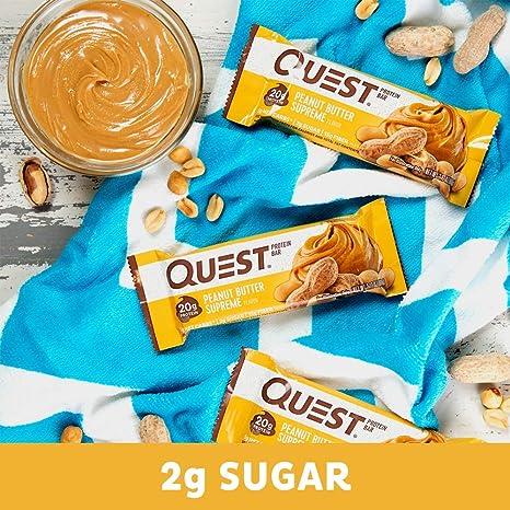 Quest Nutrition Peanut Butter Protein Bars - Pack of 12 Protein Bars: Amazon.es: Salud y cuidado personal