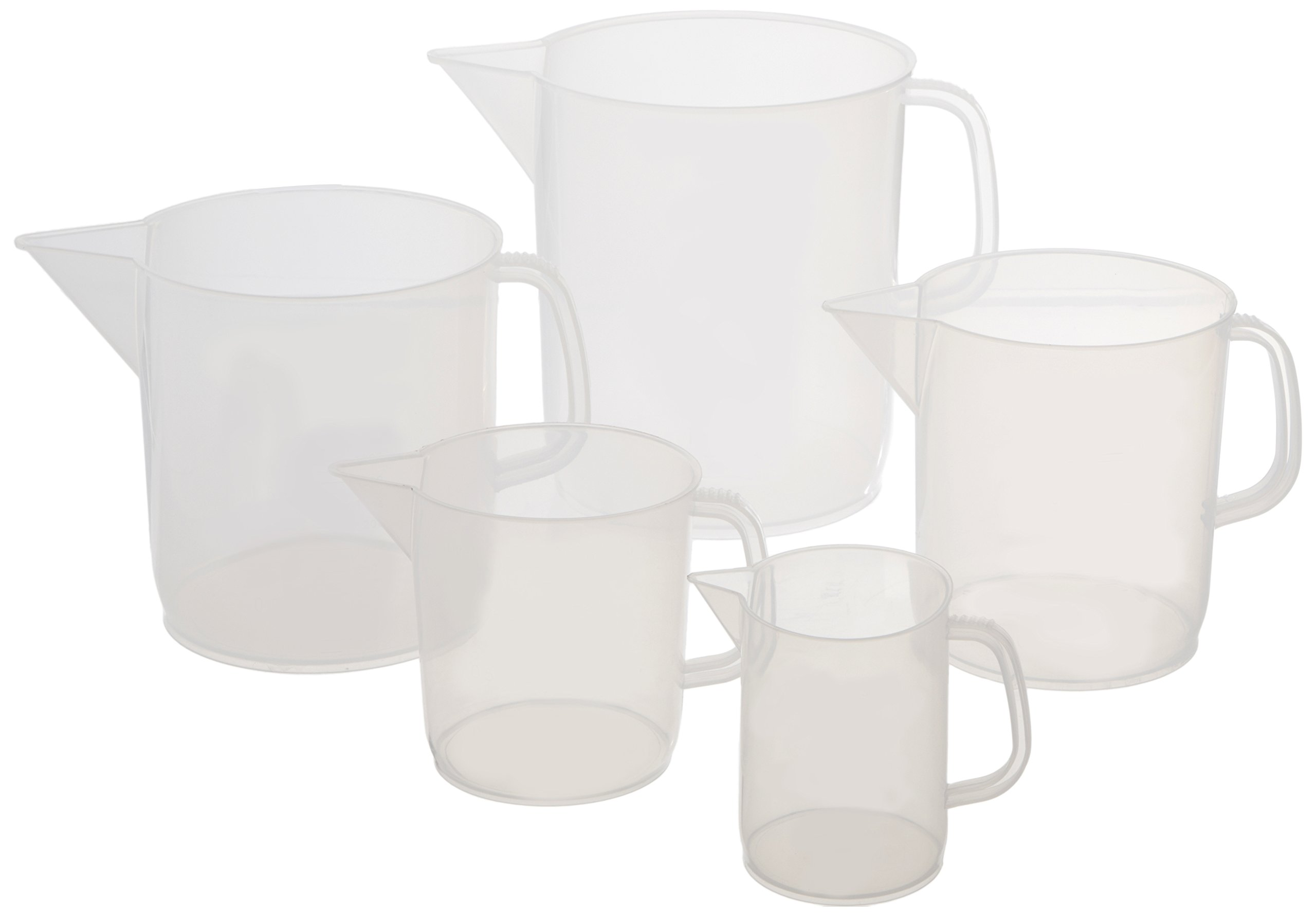 United Scientific PJSET5 Polypropylene Short Form Pitchers, 5 Pitchers (Set of 5) by United Scientific Supplies