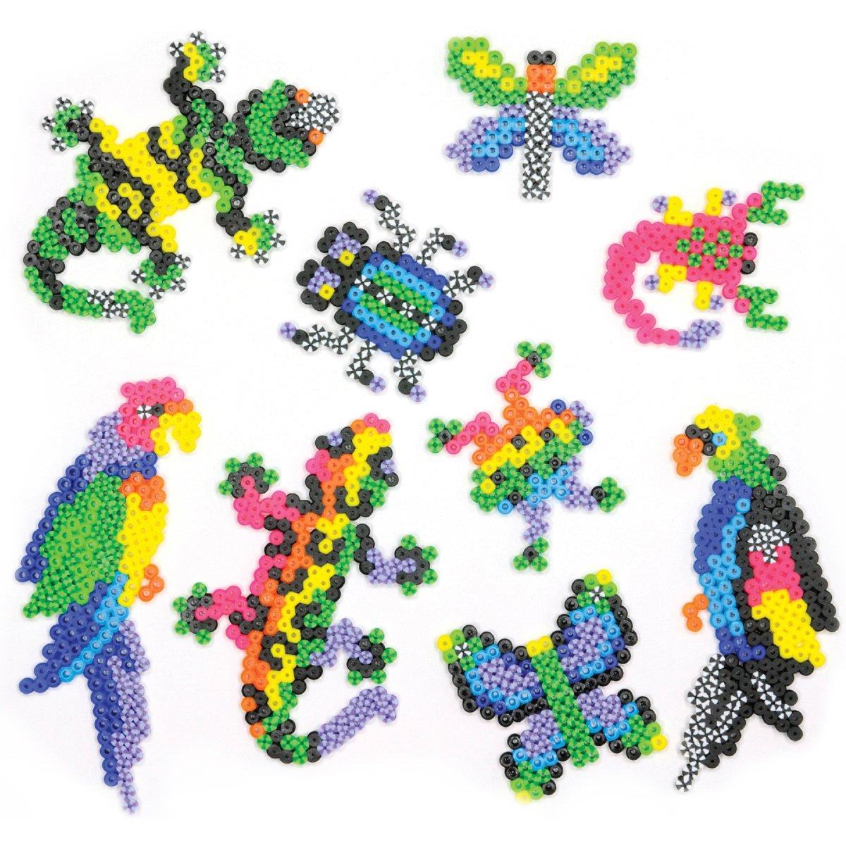 Perler 80-55997 Beads Fused Bead Kit, Rare Bugs n' Birds Rare Bugs n' Birds EK Success Brands