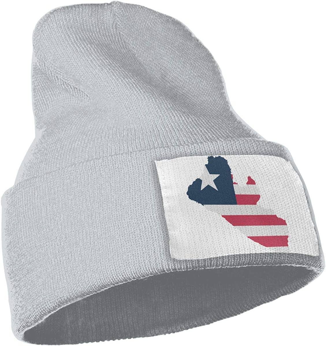 TAOMAP89 Liberia Flag Map Women and Men Skull Caps Winter Warm Stretchy Knitting Beanie Hats
