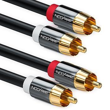 deleyCON 10m Cinch Kabel Stereo Audio Cinch RCA Kabel: Amazon.de ...