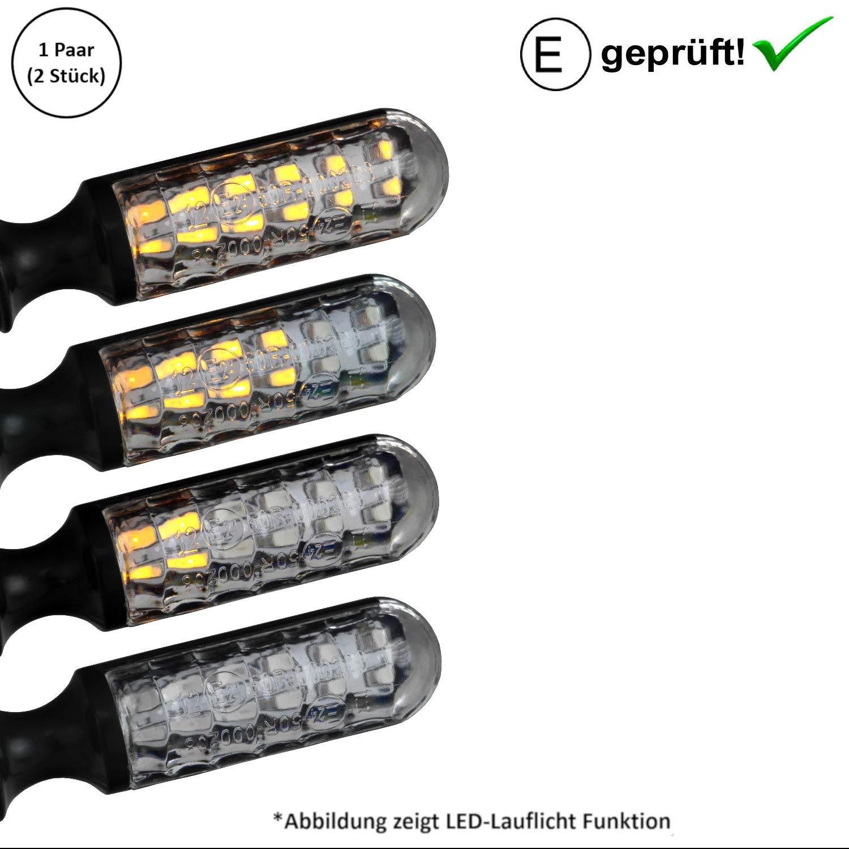 Frecce a LED universali per moto con effetto di scorrimento omologate SHIN YO
