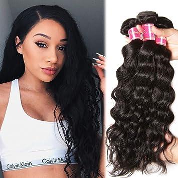 Amazon.com   Nadula Brazilian Natural Wave Remy Virgin Human Hair Pack of 3  Unprocessed Virgin Hair Bundles Natural Color (3pcs 12inch)   Beauty 462a90026afa