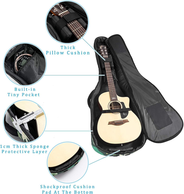 Bolsa para guitarra con dise/ño de ranas y lirios de agua impermeable funda para guitarra con correa ajustable para el hombro tela Oxford