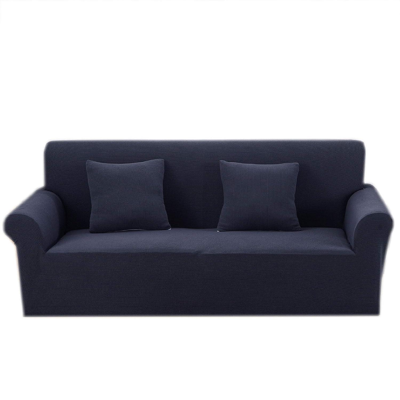 Argstar Premium Knit Love Seat Cover Elastic for Loveseat Slipcover Dark Green Furniture Protector