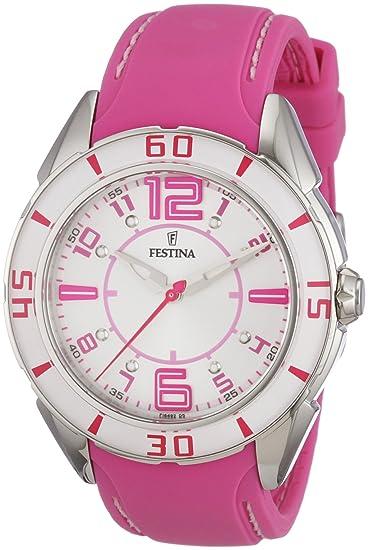 FESTINA F16492/5 - Reloj de mujer de cuarzo, correa de goma color rosa: Festina: Amazon.es: Relojes