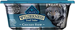 Blue Buffalo Wilderness Trail Tubs High Protein, Natural Adult Wet Dog Food Tubs, 8-oz (Pack of 8)