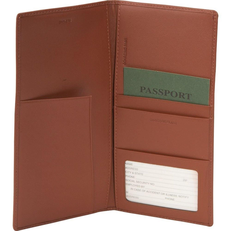Royce Leather Passport Ticket Holder Carnation Pink One Size 211