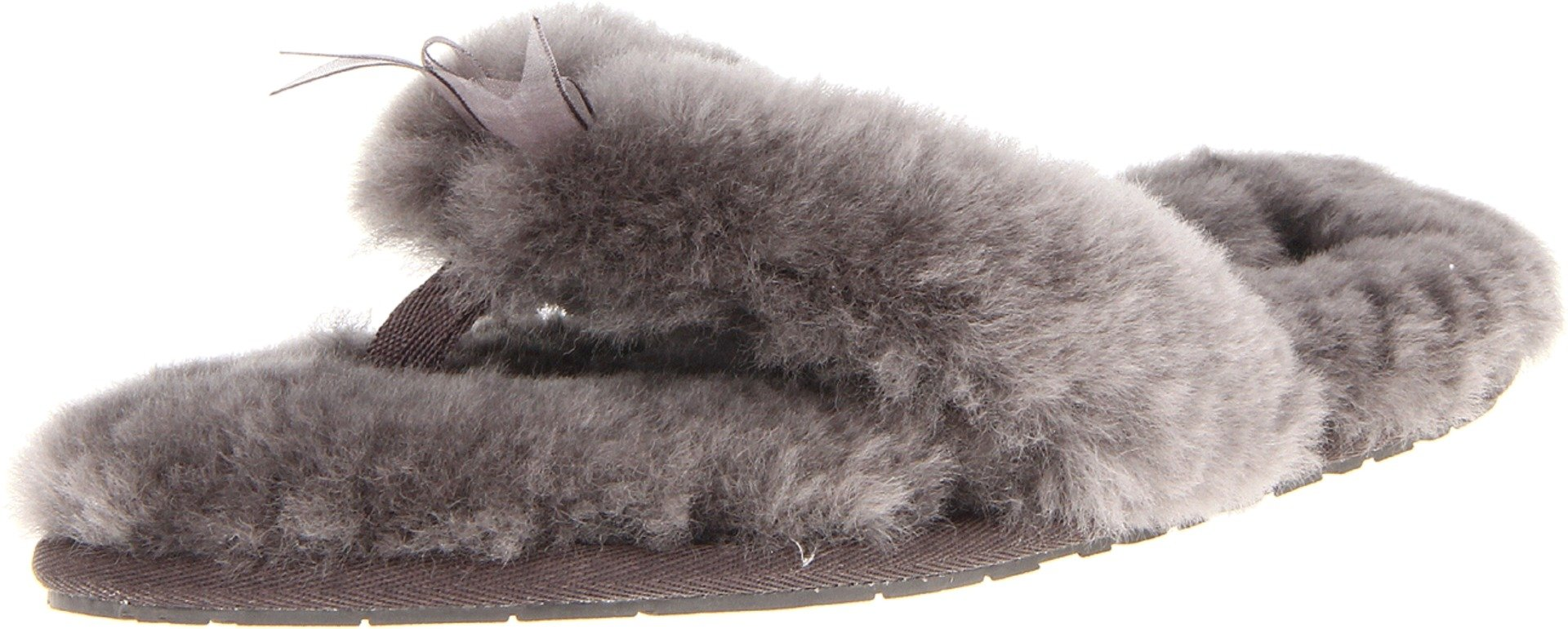 e8047eb4fda7 UGG Women s Fluff Flip Flop II Slip On Slipper Grey 10 B US Sheepskin  Imported