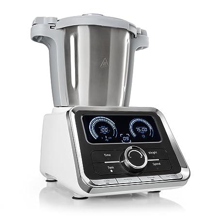 Klarstein GrandPrix - Robot da Cucina Multifunzione, Vaporiera, 500/1000W,  Ciotola in Acciaio Inox, Capacita 2,5L, Display digitale, 12 velocità, ...