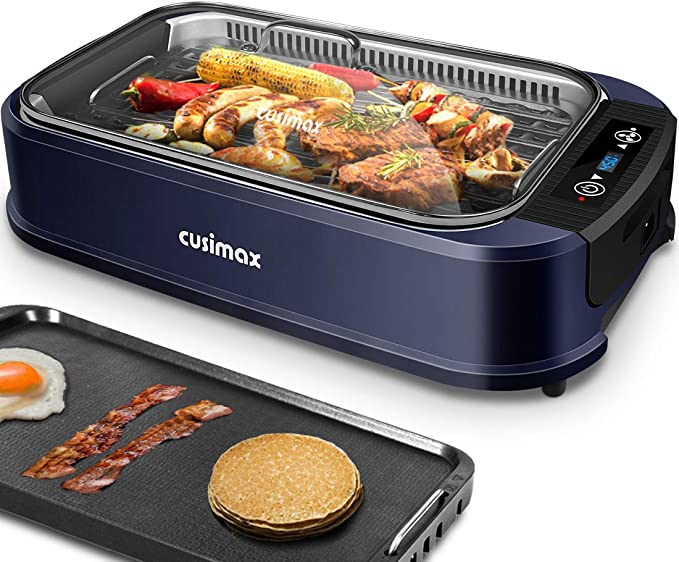 CUSIMAX Smokeless Grill Indoor Electric Grill - The Best Performance