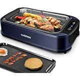Indoor Grill Electric Grill Griddle CUSIMAX Smokeless Grill, Portable Korean BBQ Grill with Turbo Smoke Extractor…