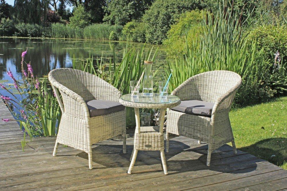 Garden Pleasure Tischgruppe Garten Tisch Sessel Stuhl Sitzgruppe Rattan  Optik Online Kaufen