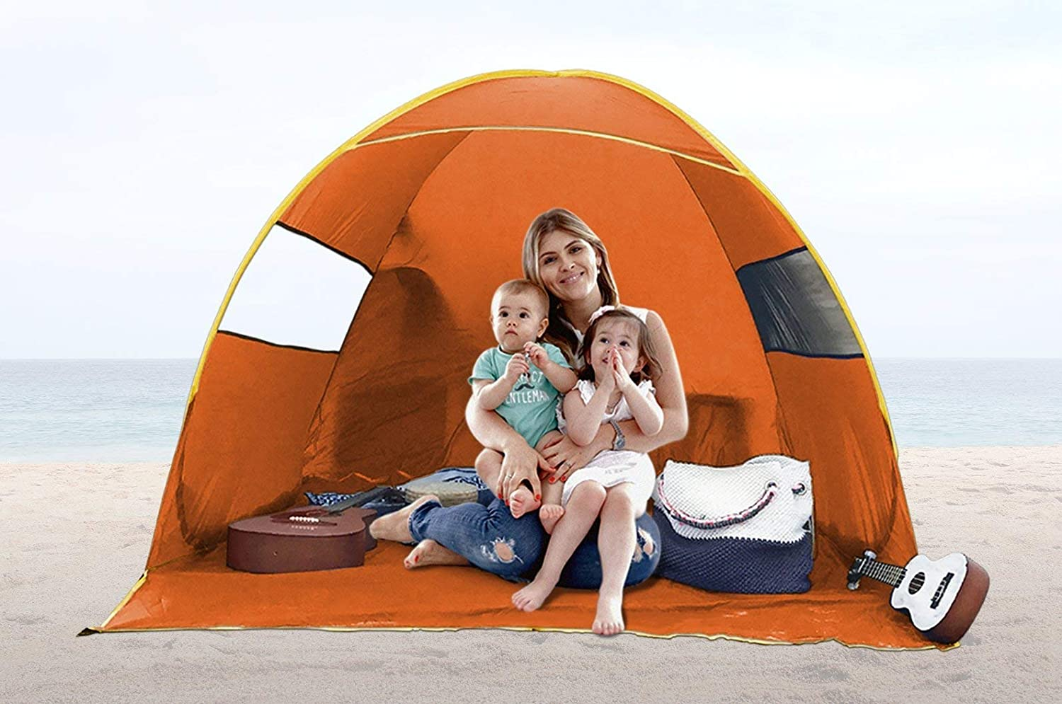 FiveJoy Instant Pop Up Beach Families Shade Beach Tent with UV FiveJoy Protection - Easy Setup and Transport - Must Have Sun Shelter for Families with Babies and Toddlers - Great for Picnics, Barbecues, Open-Air Concerts … [並行輸入品] B07R3YWC5Y, Me-maine(ミーマイン):c27c9146 --- number-directory.top
