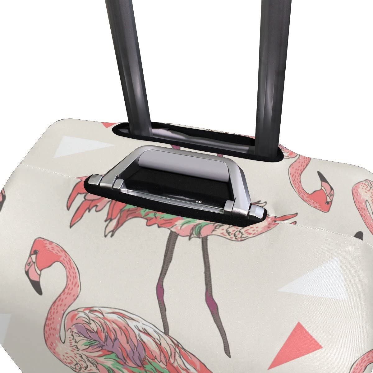 OREZI Luggage Protector Flamingo Illustration Travel Luggage Elastic Cover Suitcase Washable and Durable Anti-Scratch Stretchy Case Cover Fits 18-32 Inches