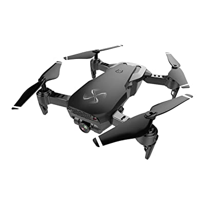 DRONE-CLONE XPERTS Drone X Pro AIR 4K Ultra HD Dual Camera FPV WiFi Quadcopter Follow Me Mode Gesture Control 2 Batteries Included (Black): Toys & Games
