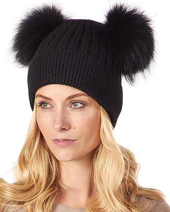 Pom Knit Black Beanie Thick Beanie Pom Pom Beanie Pom Pom Accessory Knit Beanie