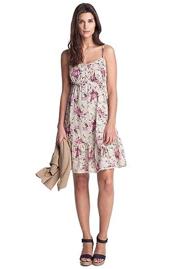 ESPRIT Damen Kleid (knielang) Regular Fit, D21767, Gr. 40 (L), Weiß ... c3a35c220b