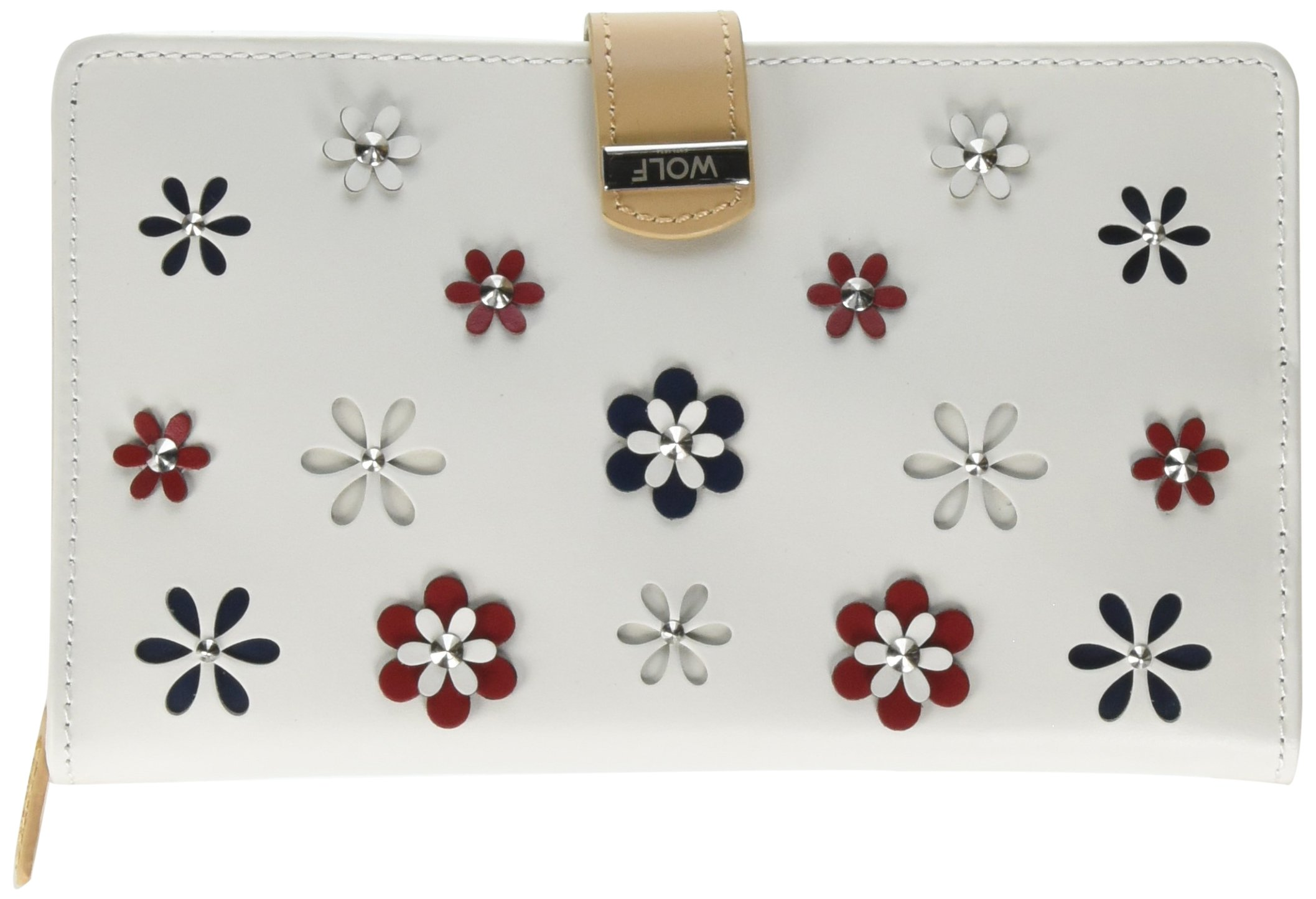 WOLF 467453 Blossom White Jewelry Portfolio With 3D Colorful Flowers by WOLF