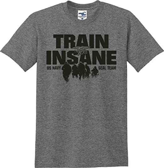 d9685fdc5f34e Train Insane US Navy Seal Team T-Shirt (S-5X)